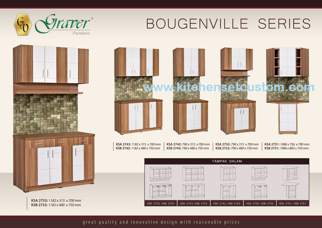 Kitchen Set Bougenville Series Graver Furniture