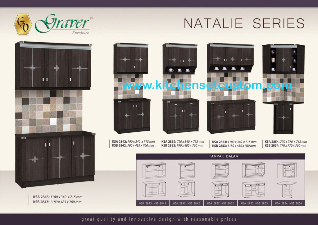 Kitchen Set Natalie Series Graver Furniture