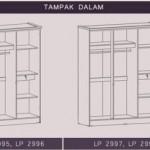 Lemari Pakaian 2 Pintu LP 2995