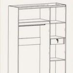 Lemari Pakaian 3 Pintu WD 198
