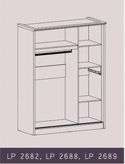 Tampak Dalam Lemari Pakaian Sliding Natalie Graver Furniture