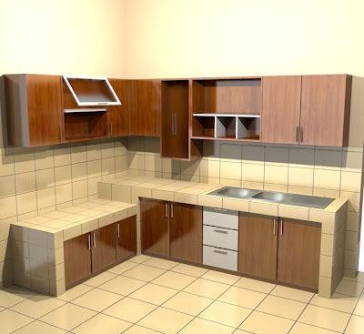 Kitchen Set Custom 3 L Type Type Letter L Minimalis