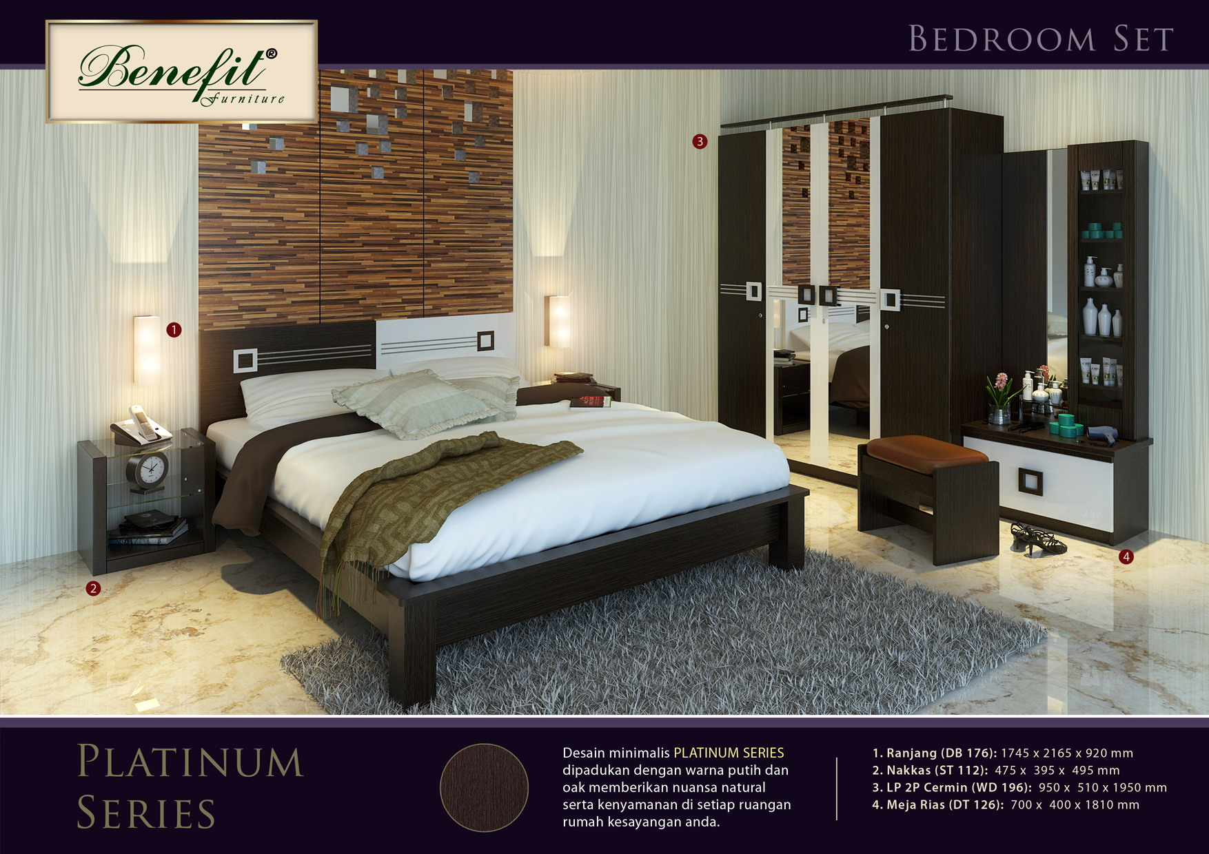 Kamar Set Platinum Series Benefit Furniture