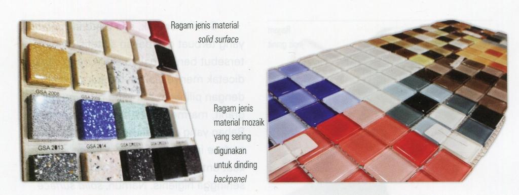 Solid Surface dan Mozaik Kitchen Set