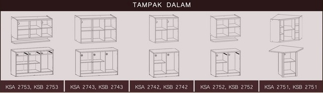 Tampak Dalam Kitchen Set Bougenville Graver Furniture