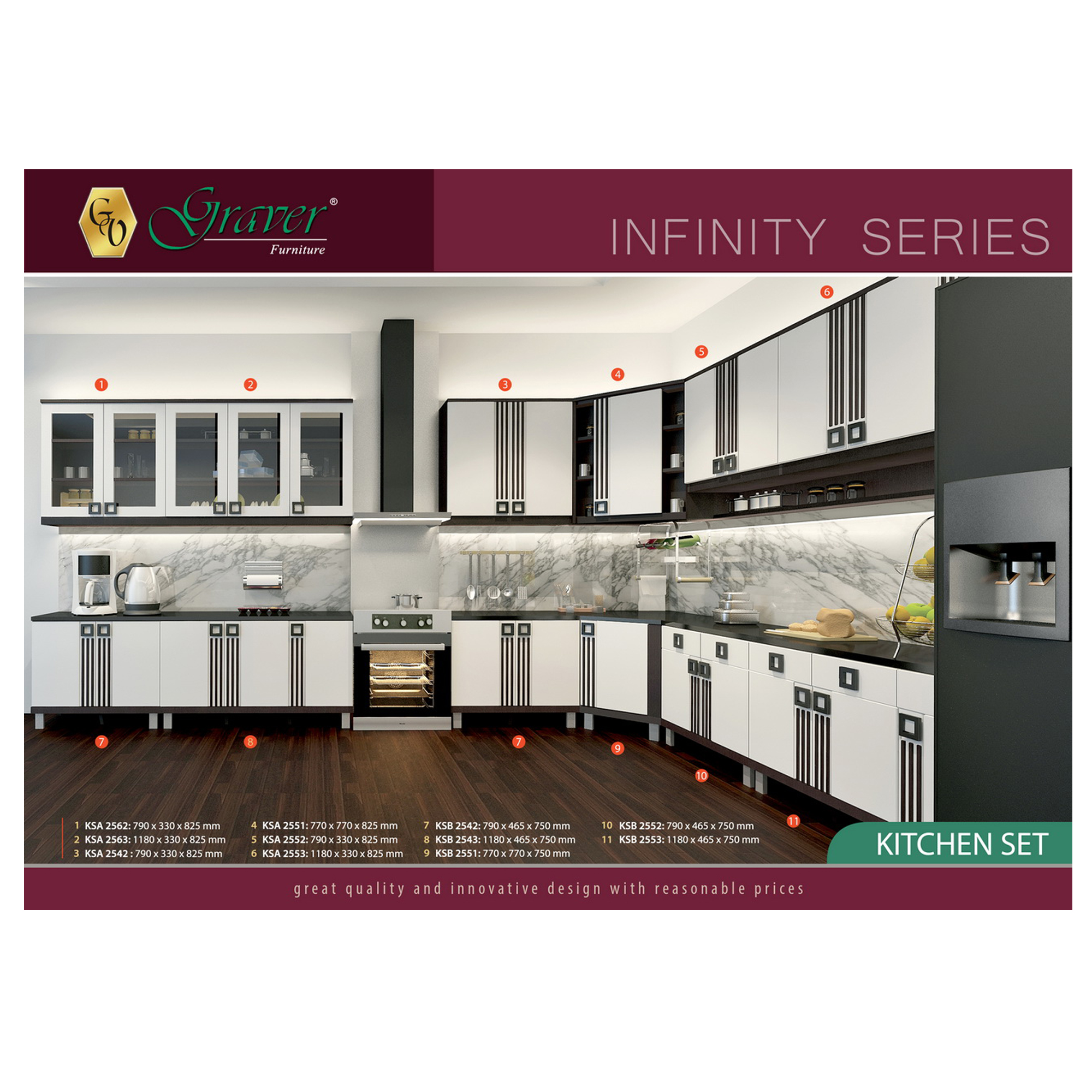 Naturalis Furniture Kitchen Sets